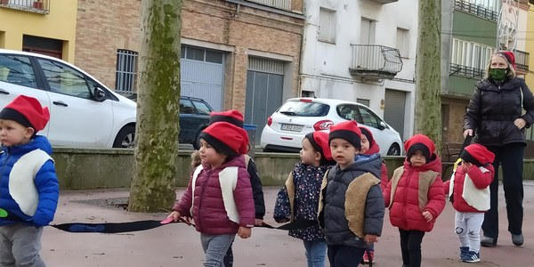 Cantada de Nadales a càrrec dels alumnes de la Llar d'Infants