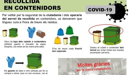 L'Àrea de Gestió de Residus del Consell Comarcal de la Segarra fa una crida a la responsabilitat ciutadana.