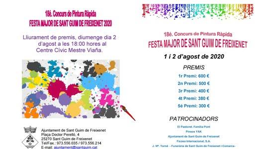Publicades les bases del 18é Concurs de Pintura Ràpida de la Festa Major de Sant Guim