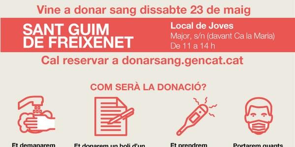 Sant Guim de Freixenet acull una campanya especial de donació de sang